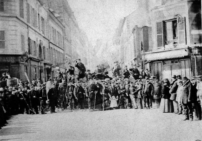 Commune de Paris barricade rue Saint-Sébastien (Paris commune barricade Saint-Sébastien street)